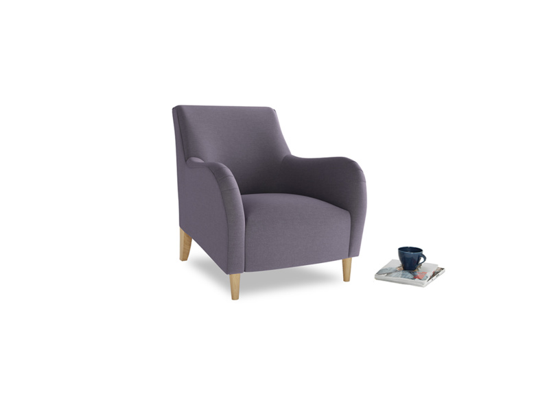Buster Occasional Chair in Damson Vintage Linen