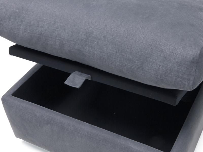 Upholstered sofa Chatnap storage footstool