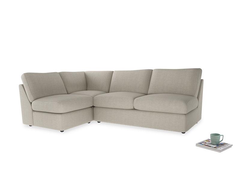 Large left hand Corner Chatnap modular corner storage sofa in Thatch house fabric