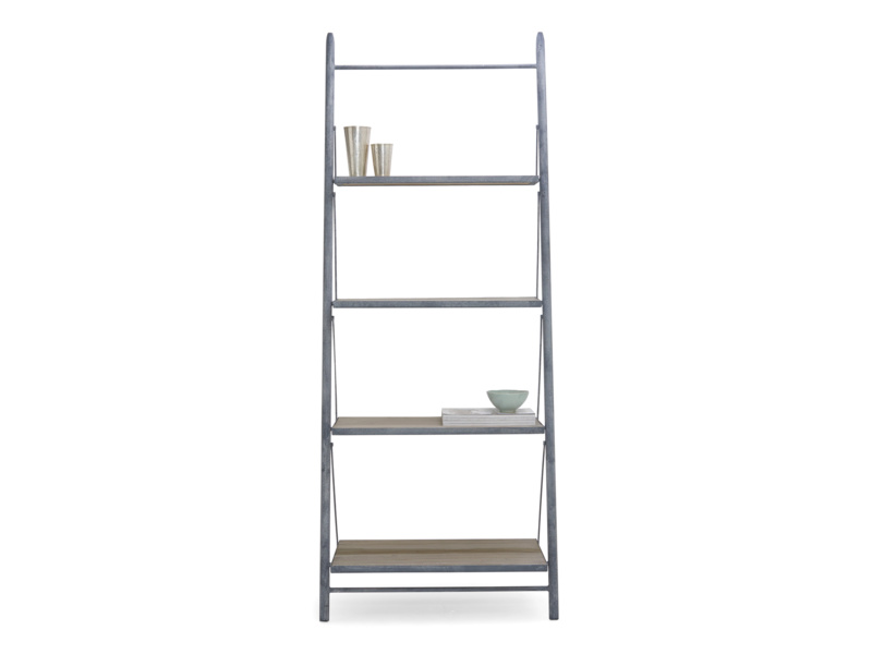 Leaning Pisa industrial style ladder shelves