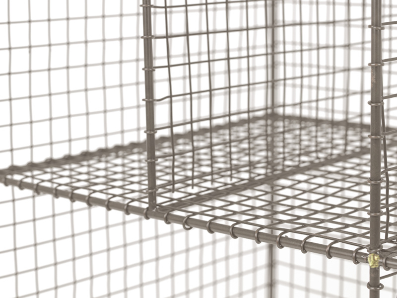 Low Wire study industrial wire shelving unit