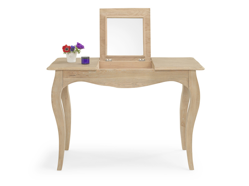 Thelma solid oak dressing table with mirror in a French style