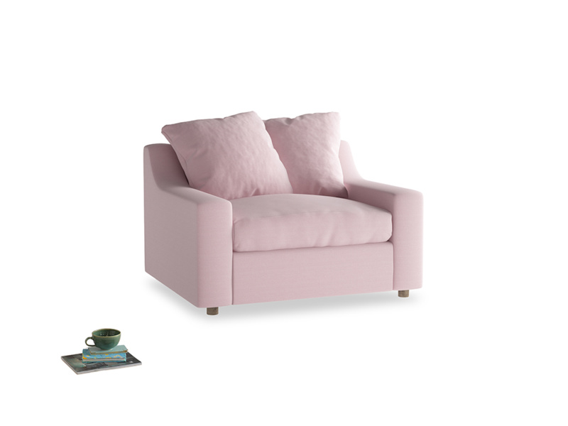 Love Seat Sofa Bed Cloud love seat sofa bed in Pale Rose vintage linen