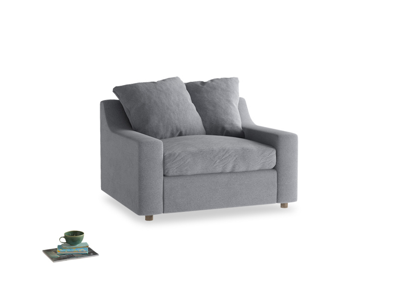 Love Seat Sofa Bed Cloud love seat sofa bed in Dove grey wool
