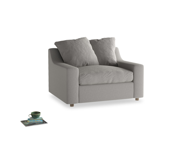 Love Seat Sofa Bed Cloud love seat sofa bed in Wolf brushed cotton