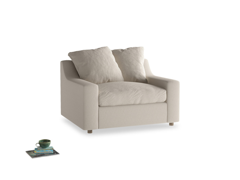 Love Seat Sofa Bed Cloud love seat sofa bed in Buff brushed cotton