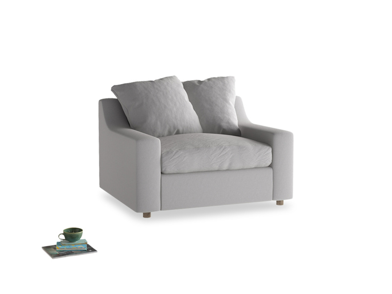 Love Seat Sofa Bed Cloud love seat sofa bed in Flint brushed cotton