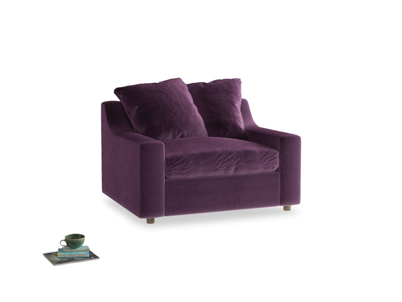 Love Seat Sofa Bed Cloud love seat sofa bed in Grape clever velvet