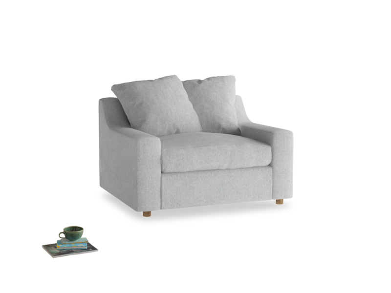Love Seat Sofa Bed Cloud love seat sofa bed in Pebble vintage linen