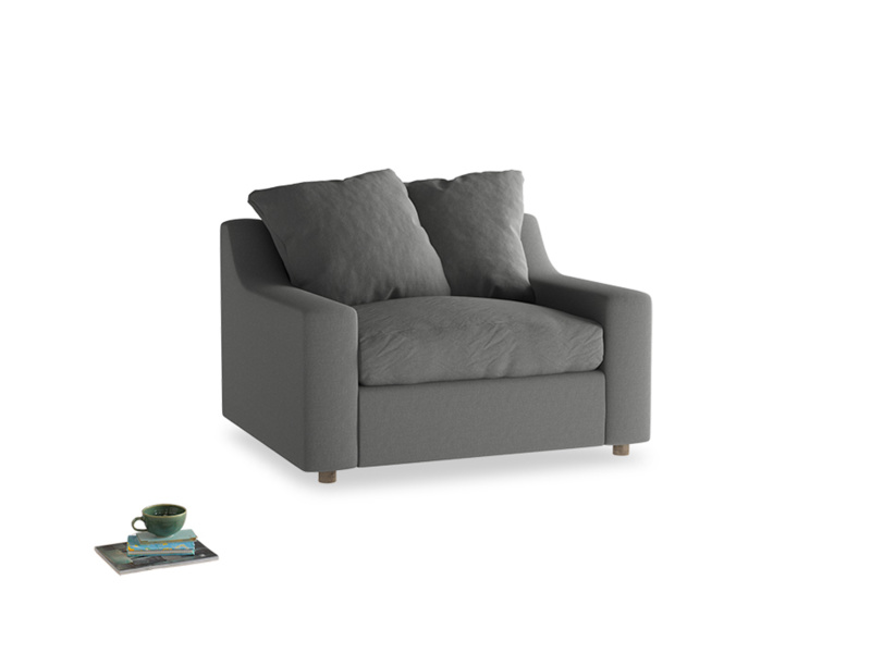 Love Seat Sofa Bed Cloud love seat sofa bed in French Grey brushed cotton