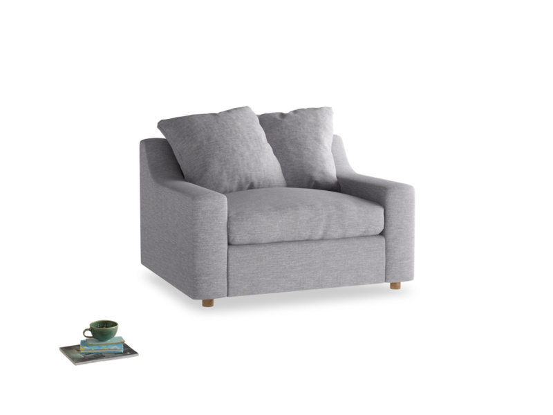Love Seat Sofa Bed Cloud love seat sofa bed in Storm cotton mix