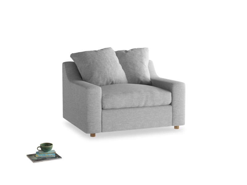 Love Seat Sofa Bed Cloud love seat sofa bed in Mist cotton mix