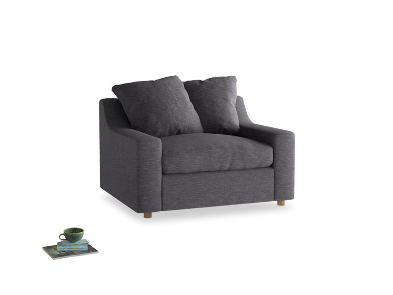 Love Seat Sofa Bed Cloud love seat sofa bed in Lead cotton mix