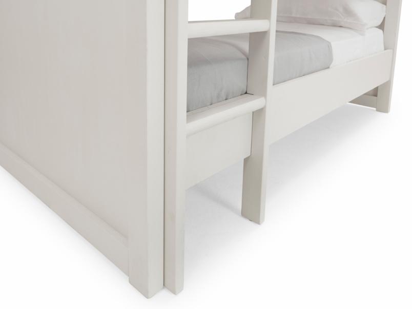Clever Clogs unstackable children's wooden white bunk bed