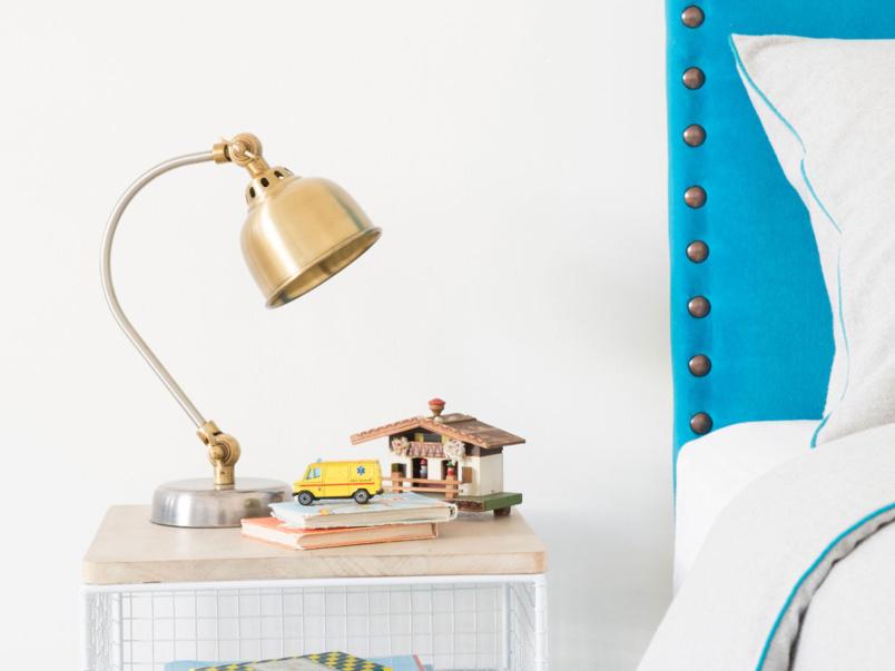 Mini Gaston brass kids' bedside lamp