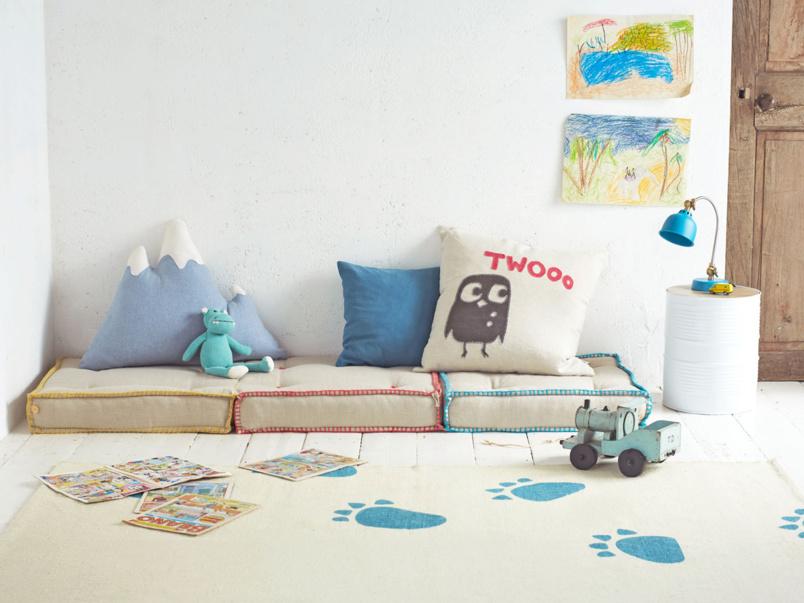 Sleepover children's floor cushion