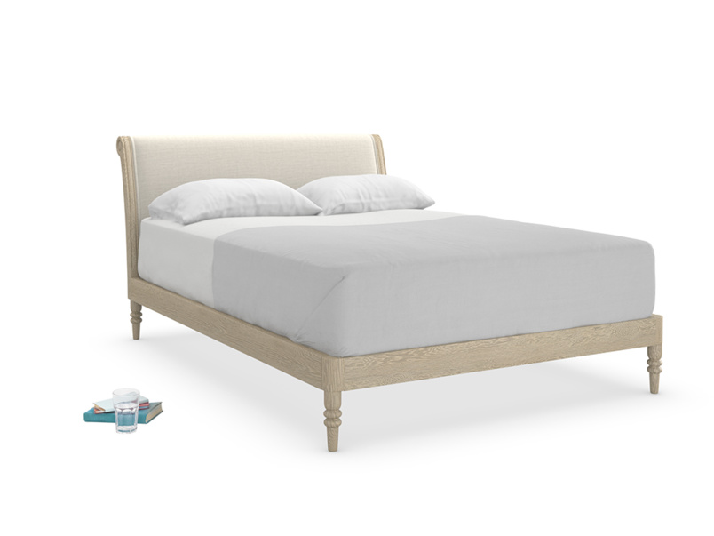 Darcy vintage French style upholstered bed