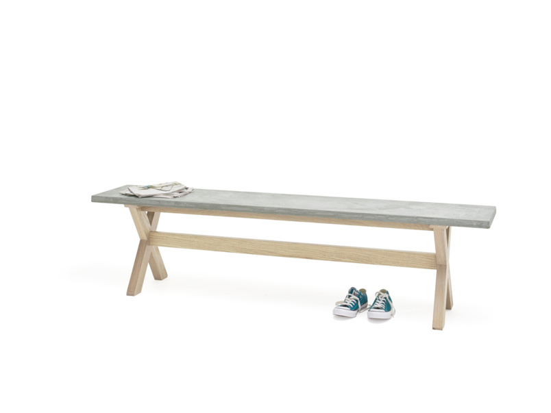 Industrial Budge kitchen bench with a light resin top