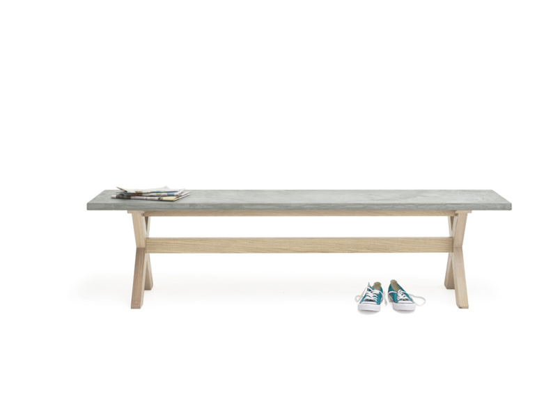 Incredibly practical concrete top Budge kitchen bench