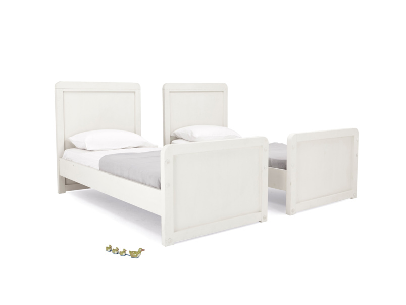 Clever Clogs white children's wooden detachable bunk bed