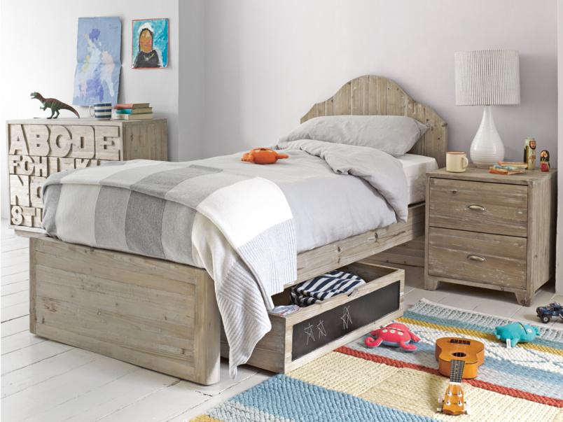 Beautiful Greta children's single wooden bed