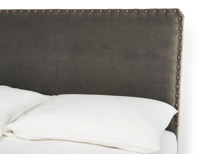 Smith upholstered headboard is handmade in Britain