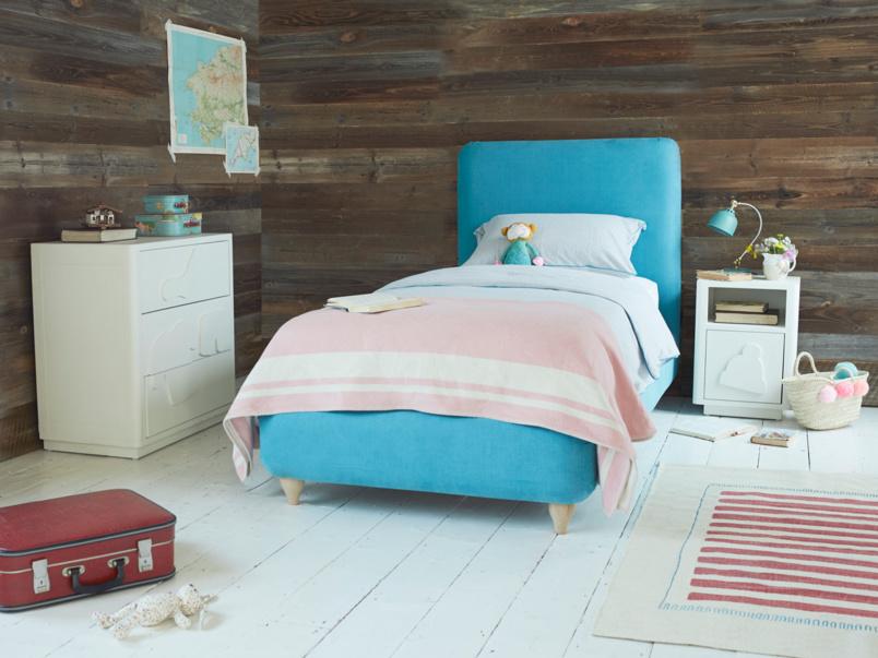 Beautiful upholstered Ruffle bed