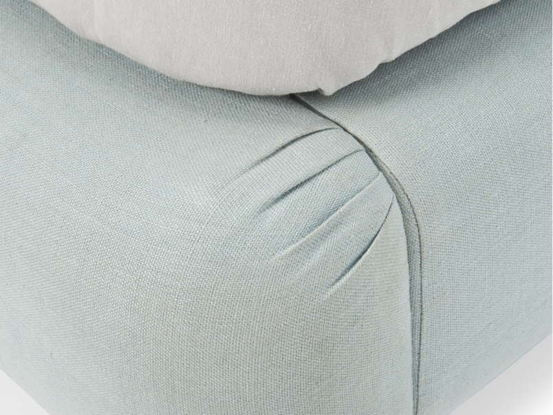 Modern pleated detail on Ruffle luxury upholstered bed frame