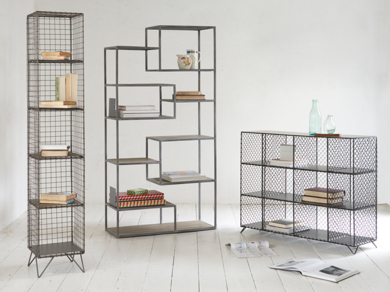 Mish-Mesh industrial wire bookcase and storage unit