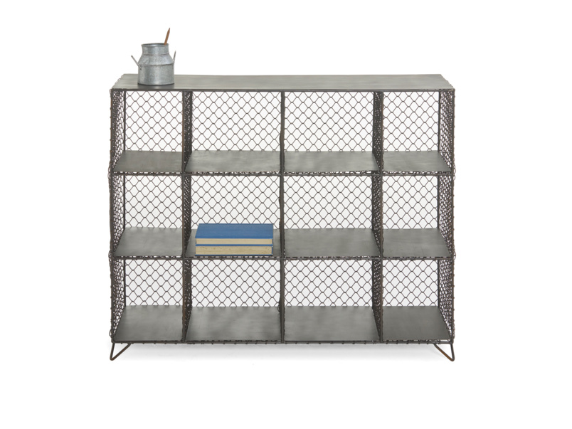 Mish-Mesh industrial wire bookcase and storage unit is also a metal sideboard