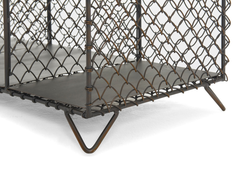 Industrial metal Mish-Mesh sidboard and wire storage unit or bookcase