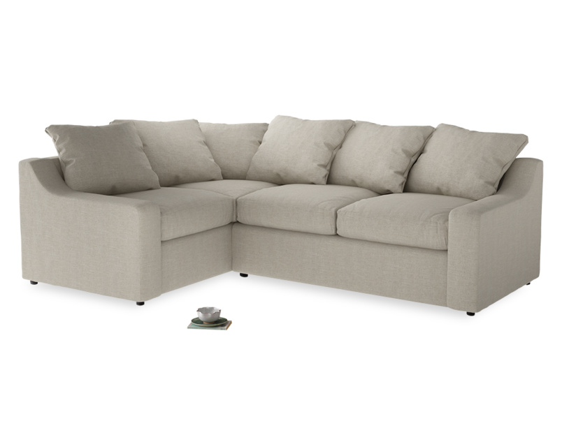 Extra deep and comfy Cloud L shaped luxury sofa handmade in Britain