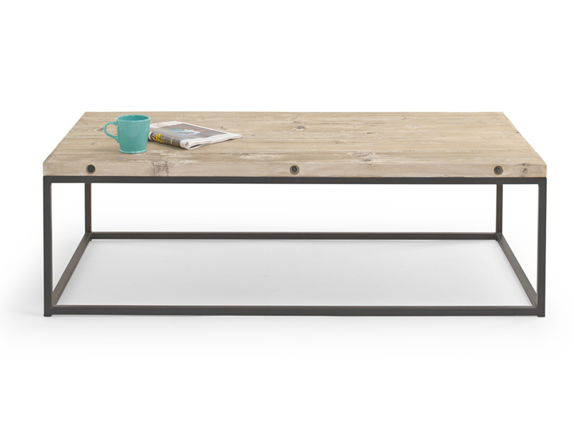 Poste wooden and metal reclaimed industrial coffee table