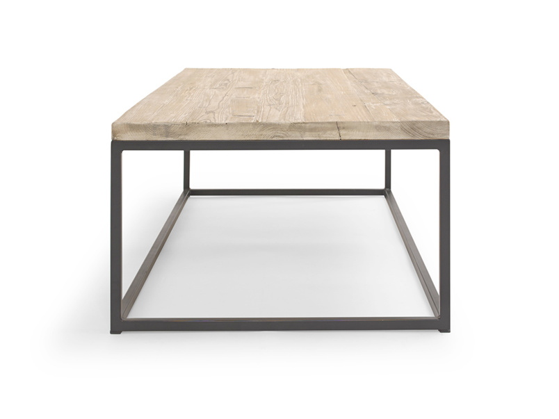 Reclaimed wooden and metal handmade industrial coffee table