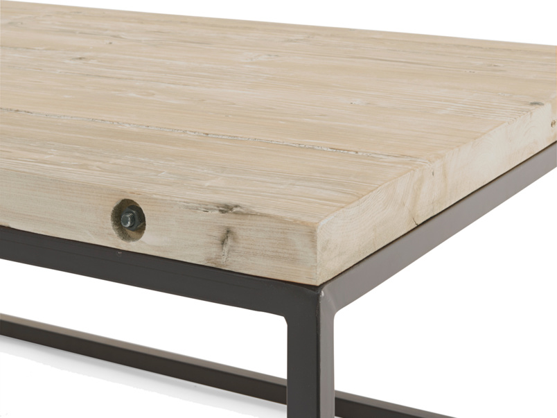 Beautiful reclaimed wooden and metal industrial Poste coffee table