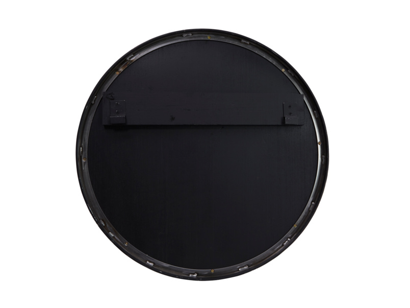 Jago plain round wall mirror