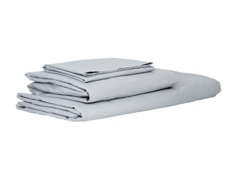Kingsize Lazy Cotton fitted sheets in Grey
