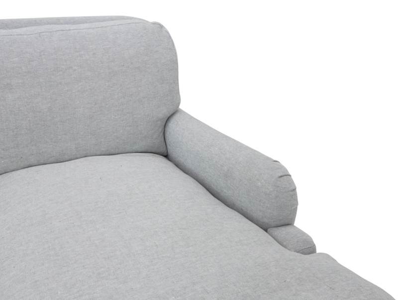 Deep seated Pavlova chaise sofa