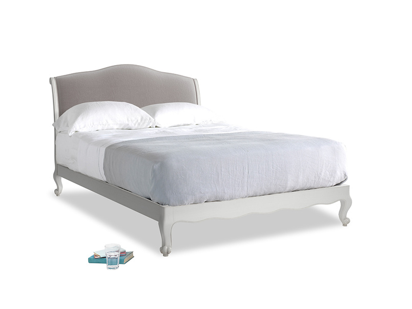 Kingsize Coco Bed in Scuffed Grey in Soothing grey vintage velvet