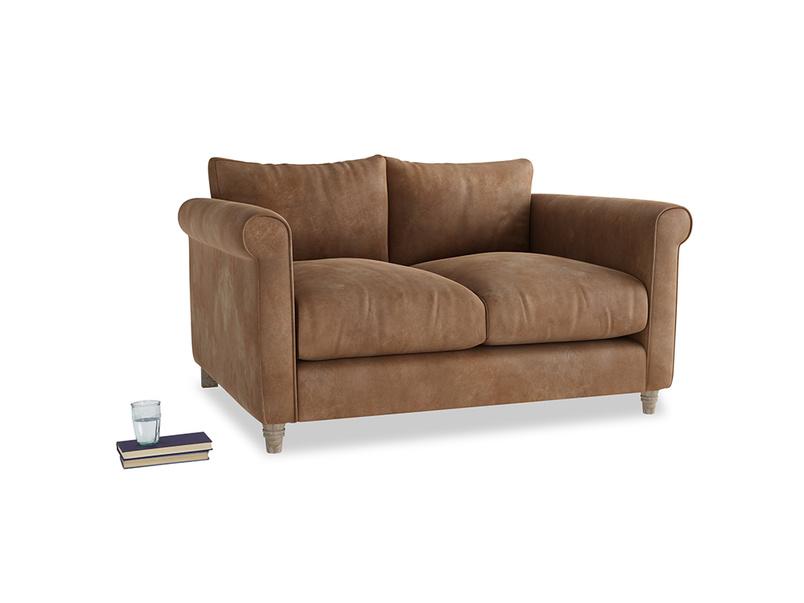 Small Weekender Sofa in Walnut beaten leather