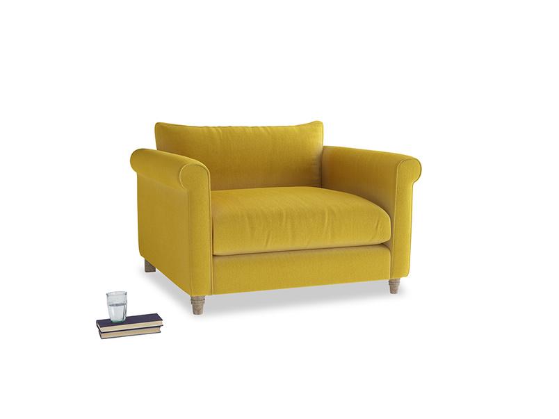 Love Seat Weekender Love seat in Bumblebee clever velvet