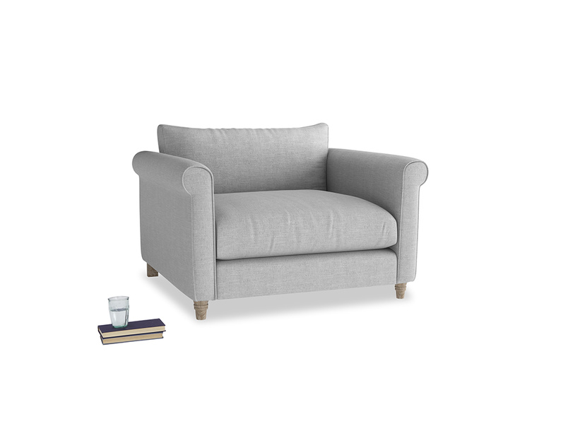 Love Seat Weekender Love seat in Cobble house fabric