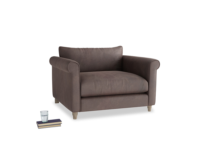 Love Seat Weekender Love seat in Dark Chocolate beaten leather