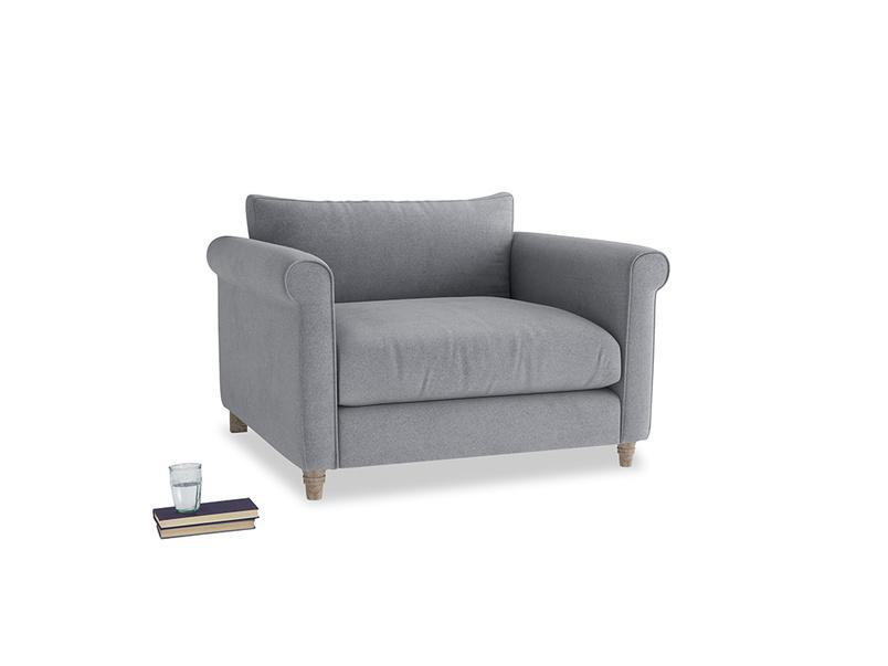 Love Seat Weekender Love seat in Dove grey wool