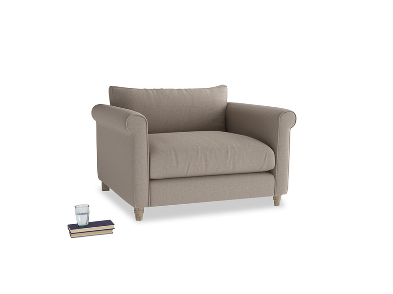 Love Seat Weekender Love seat in Driftwood brushed cotton