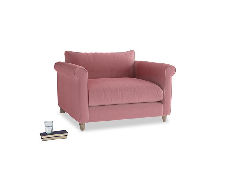 Love Seat Weekender Love seat in Dusty Rose clever velvet