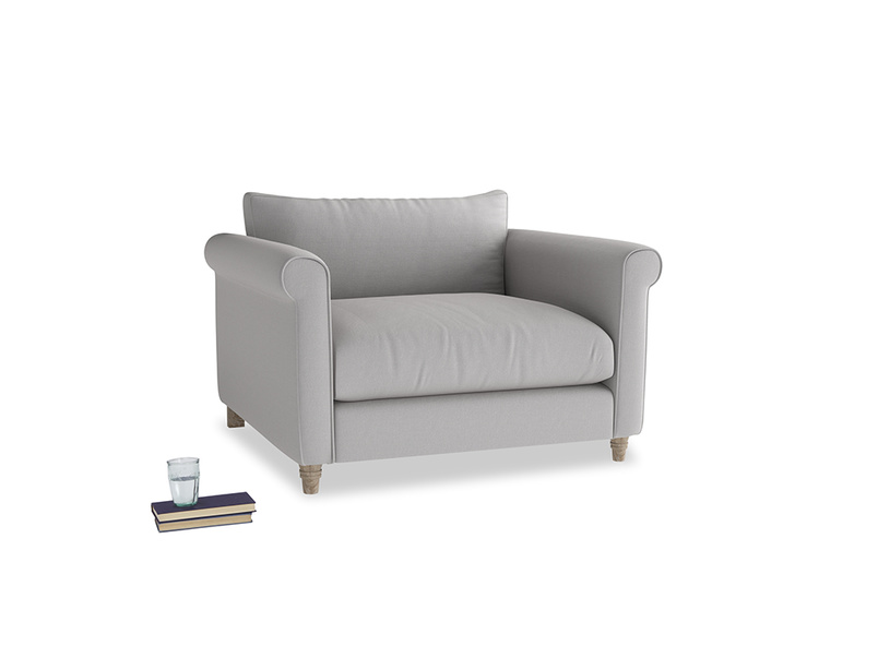 Love Seat Weekender Love seat in Flint brushed cotton