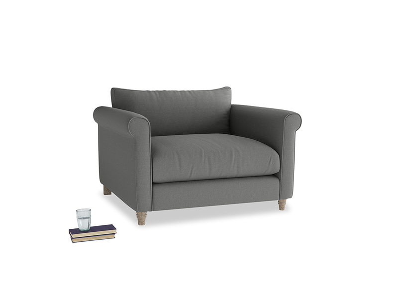 Love Seat Weekender Love seat in French Grey brushed cotton