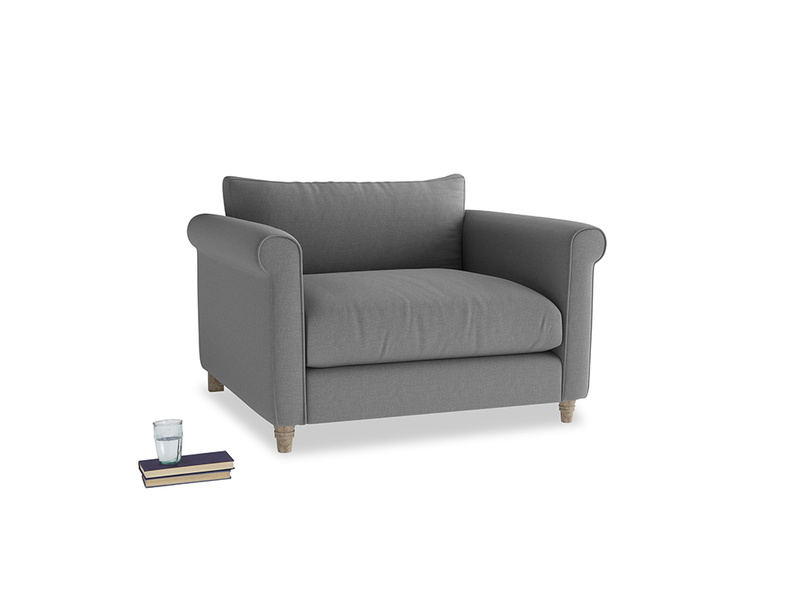 Love Seat Weekender Love seat in Gun Metal brushed cotton
