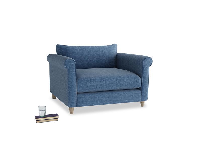 Love Seat Weekender Love seat in Hague Blue cotton mix